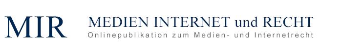 Logo MEDIEN INTERNET und RECHT